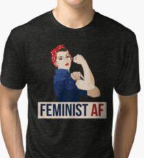 Feminist AF rosie riveter Tri-blend T-Shirt