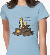 They aim to Misbehave Womens Fitted T-Shirt