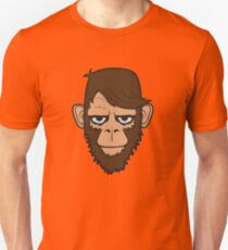 Monkey Hipster Beard T-Shirt