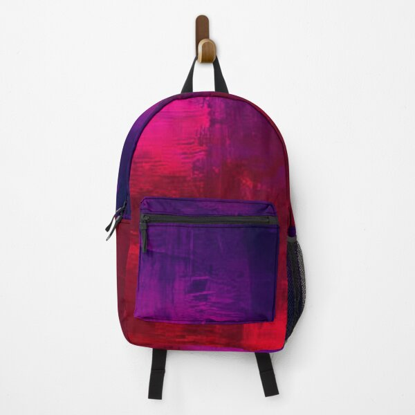 PURPLE AND RED WATER COLOUR  Backpack