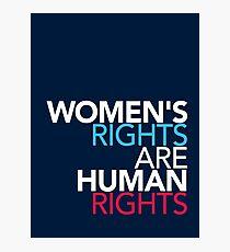 Frauenrechte sind Menschenrechte Fotodruck
