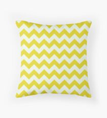 Beautiful bright yellow retro Chevron pattern  Throw Pillow
