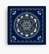 SACRED GEOMETRY - METATRONS CUBE - FLOWER OF LIFE - SPIRITUALITY - YOGA - MEDITATION Canvas Print