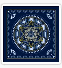 SACRED GEOMETRY - METATRONS CUBE - FLOWER OF LIFE - SPIRITUALITY - YOGA - MEDITATION Sticker