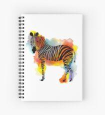Think Zebras - Rainbow Watercolor Zebra Spiral Notebook