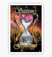 Avalanche Season's Greetings / Christmas Card Sticker