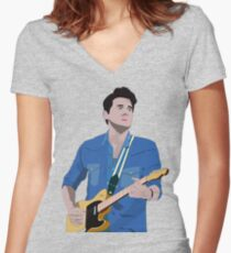 Musical Genius Women's Fitted V-Neck T-Shirt