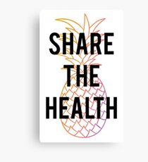Official Kristen Bell - Share The Health Shirt Canvas Print