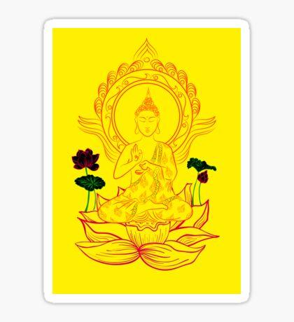 Buddha On Lotus Sticker