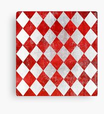 Red and White Diamonds  Canvas Print