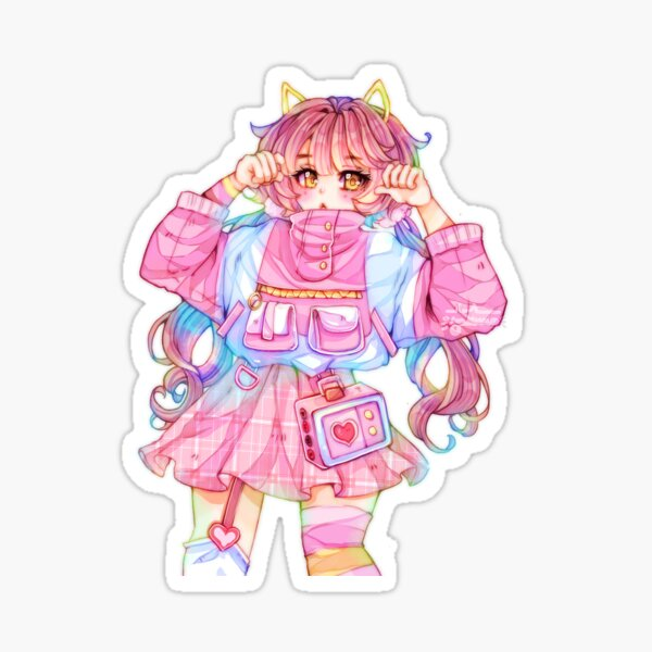 Jacket Girl Sticker