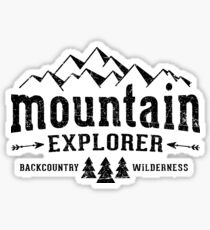 Mountain Explorer Distressed black Sticker