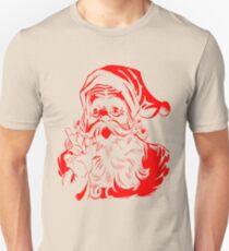 Santa Claus Vintage Retro Christmas Design Unisex T-Shirt