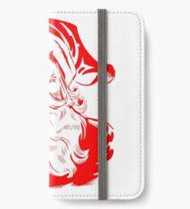 Santa Claus Vintage Retro Christmas Design iPhone Wallet