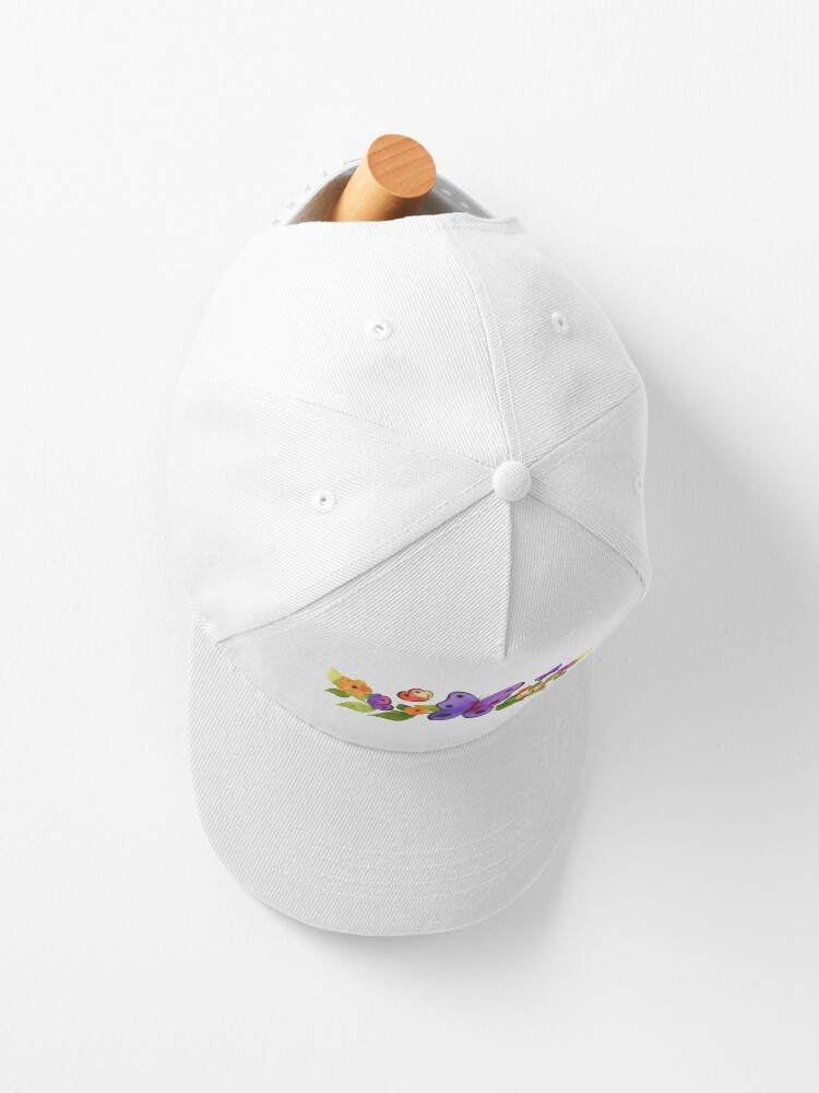 Alternate view of Watercolor Butterfly Floral Cap
