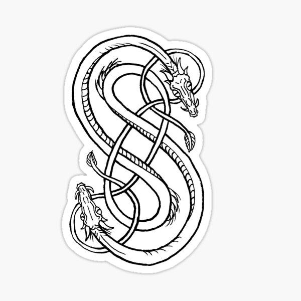 Snakes Of Loki Sticker