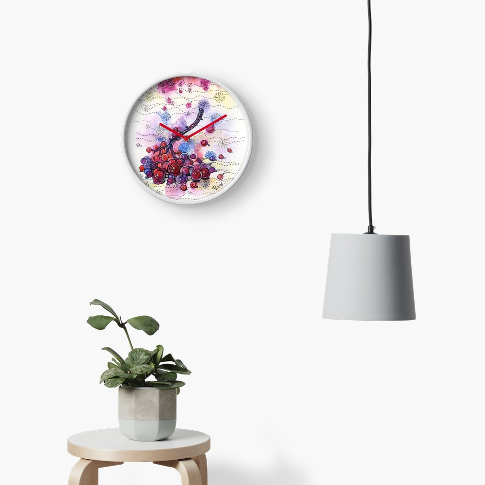 Winter Rowan Berries Clock