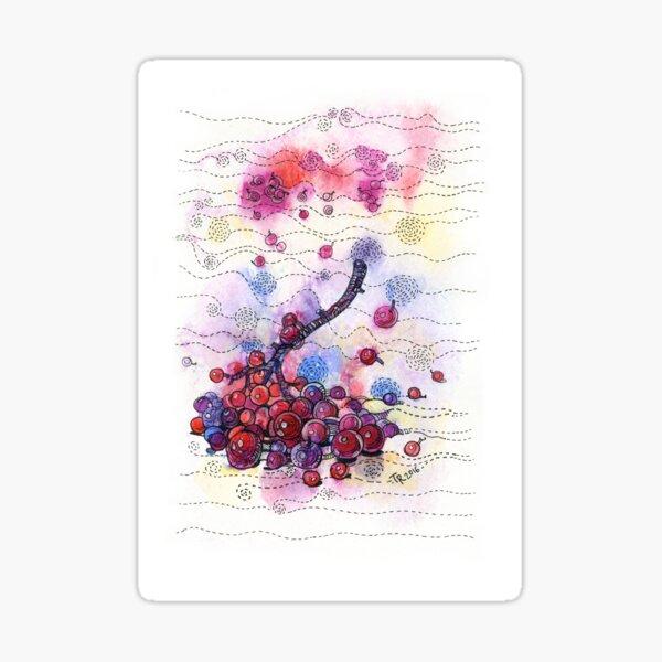 Winter Rowan Berries Sticker
