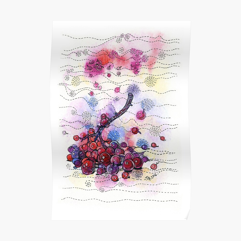 Winter Rowan Berries Poster