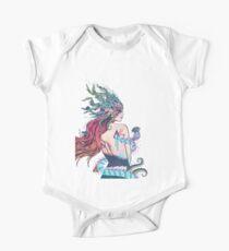 The Last Mermaid Short Sleeve Baby One-Piece