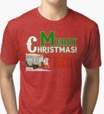 Merry Christmas Shitter Was Full Tri-blend T-Shirt