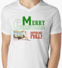 Merry Christmas Shitter Was Full Men's V-Neck T-Shirt