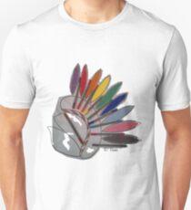 Coiffe indienne textilée avec feutres Unisex T-Shirt