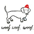 Red Beanie Doxie Vr. 1 by beadylou