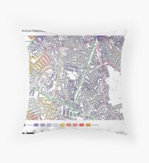 Multiple Deprivation Brixton Hill ward, Lambeth Throw Pillow