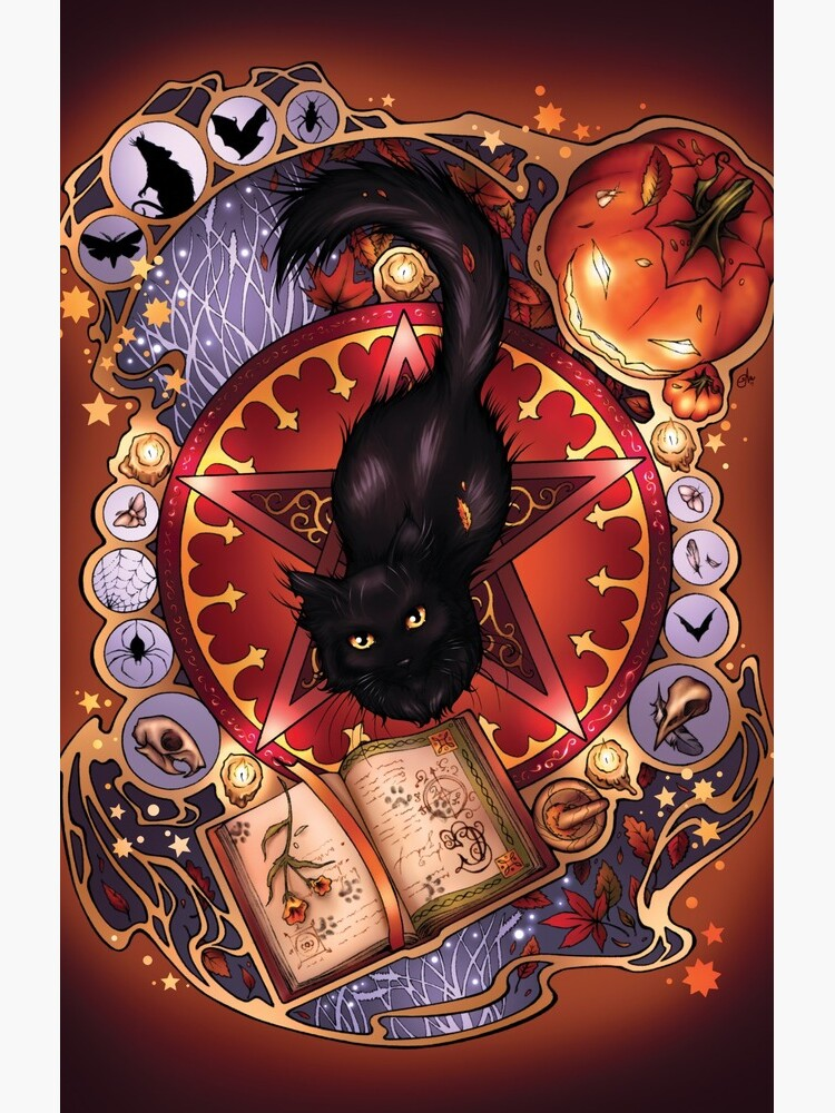 Black Cat Magic by srj-art