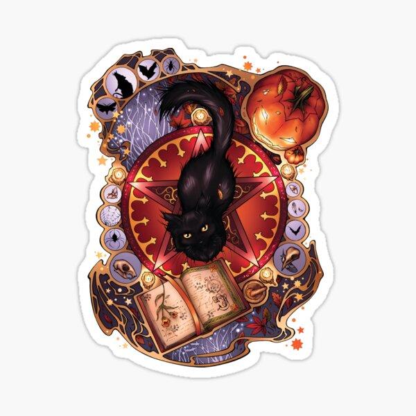 Black Cat Magic Sticker