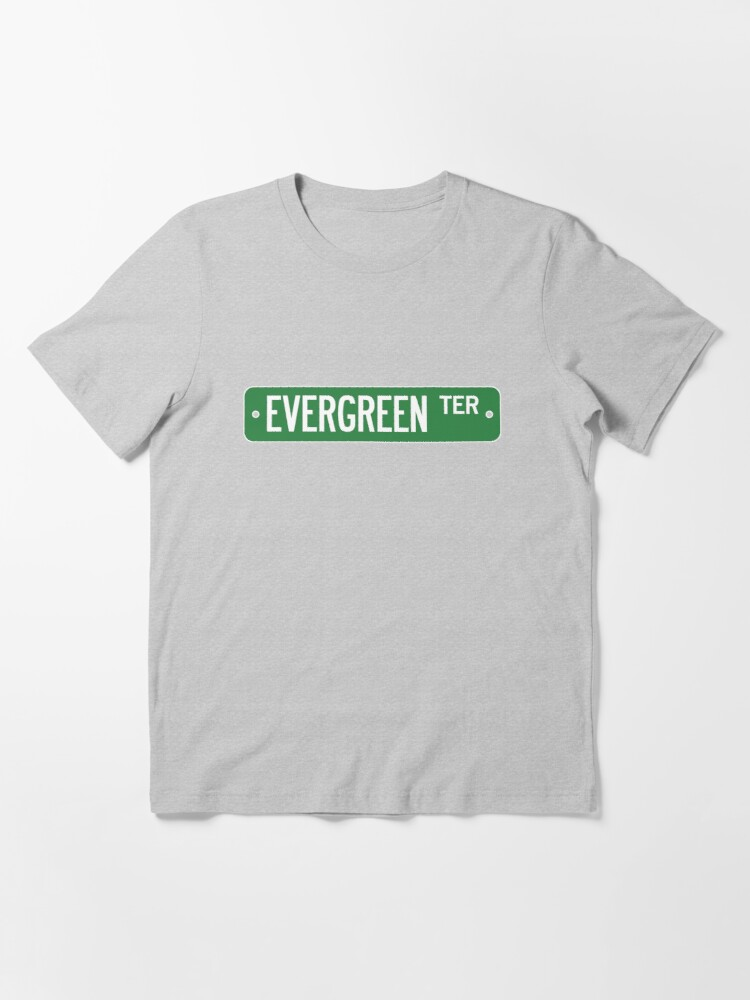 Alternate view of Evergreen Terrace Street Sign (Simpsons) Essential T-Shirt