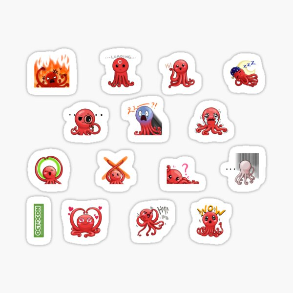 Octocon Emote Sticker Pack Sticker