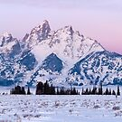 Teton Twilight Panorama by David Kocherhans