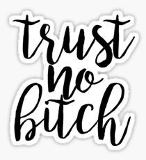 trust no bitch sticker trendy free spirit good vibes Sticker