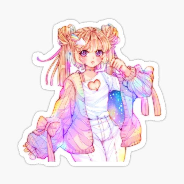 Rainbow girl Sticker