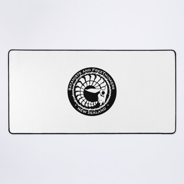 Barbed Wire Round Large Logo Desk Mat