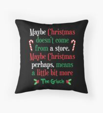 Maybe Christmas Throw Pillow