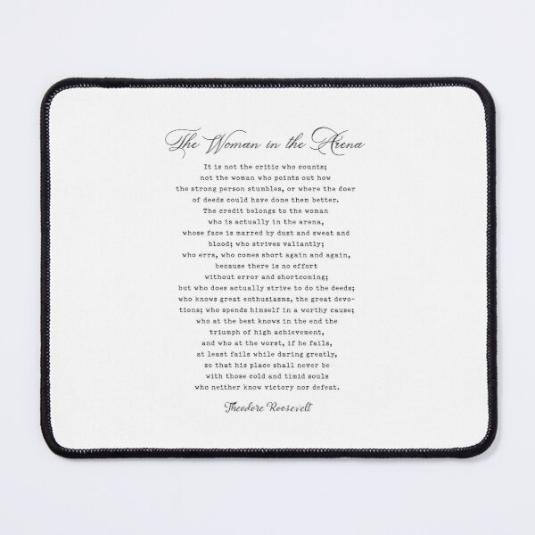 Woman in the arena - Daring Greatly  Mouse Pad