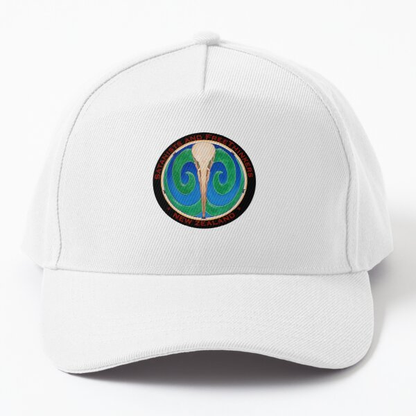 SaFTNZ Black backfround, Round Small Logo Baseball Cap