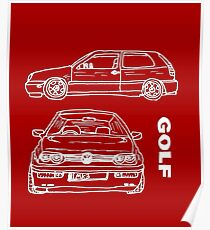 VW Golf Mk 3 (4 of 5) Poster