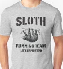 Sloth Running Team. Let's Nap Instead Slim Fit T-Shirt