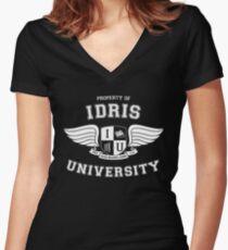 Camiseta entallada de cuello en V Shadowhunters - Idris University