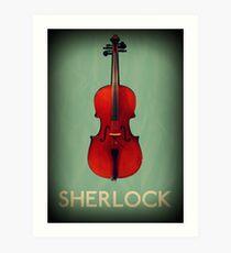 Sherlock Violin Art Print