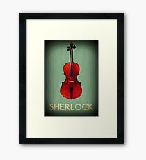 Sherlock Violin Framed Print