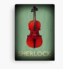 Sherlock Violin Canvas Print