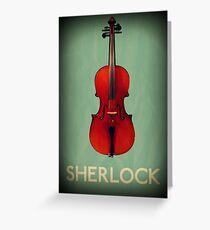 Sherlock Violin Greeting Card