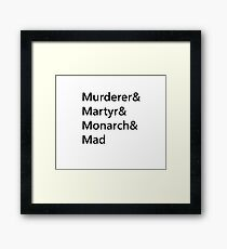 Heartless Prophecy Typography Framed Print