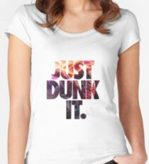 Just dunk it - Darius Dunkmaster  Women's Fitted Scoop T-Shirt