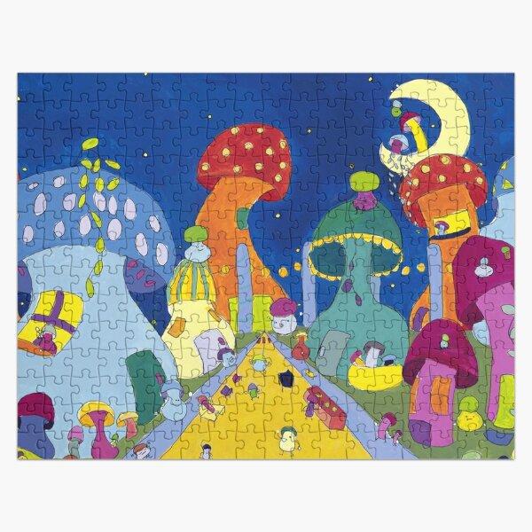 fête sur la rue des champignons Puzzle